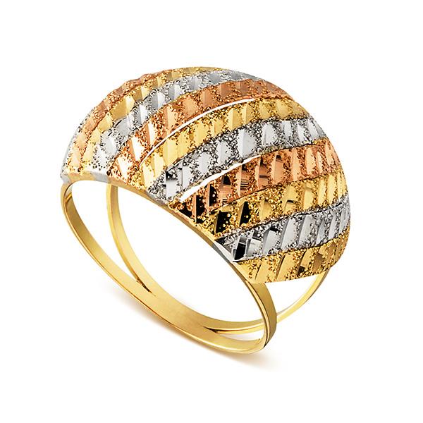 Anel em Ouro 18k Três Tons , Joalherias Aristides 9de37caeb6