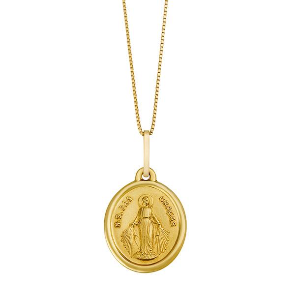 81e66b14839d1 Gargantilha Nossa Senhora das Graças em Ouro 18K, Joalherias Aristides