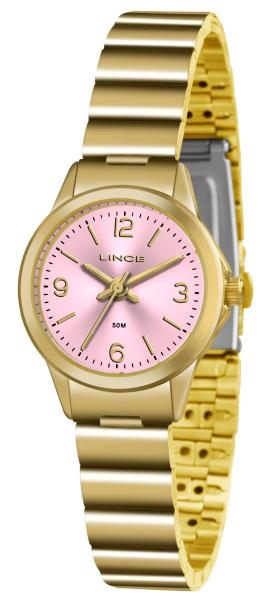 3f12e45e271 Relógio Lince Feminino Dourado Fundo Rosa - 34370