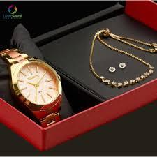 Relógio Technos Feminino Dourado Rose kit 34936, Joalherias Aristides 5fd9b3a0b5
