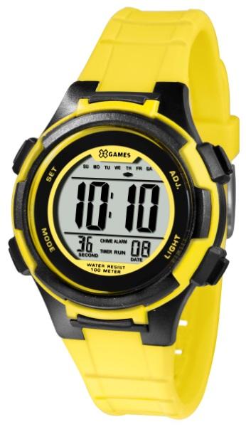 2636b0a439e Relógio X-Games Feminino Pto Amarelo XKPPD036-BXYX