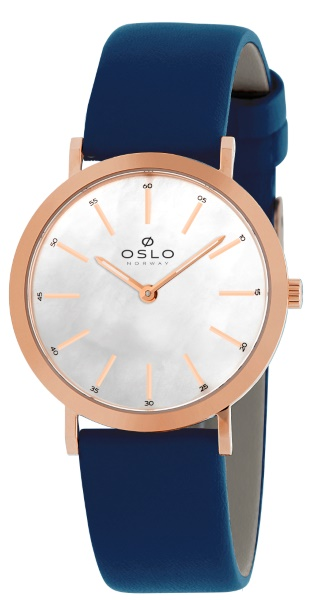 c5cc87fa52a Relógio Oslo Feminino Couro Azul Fundo Branco34575