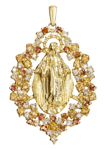 845aa159936b1 Pingente Nossa Senhora das Graças Ouro 18k
